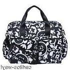TREND LAB FRENCH BULL VINE TOTE DIAPER BAG BLACK WHITE CHANG