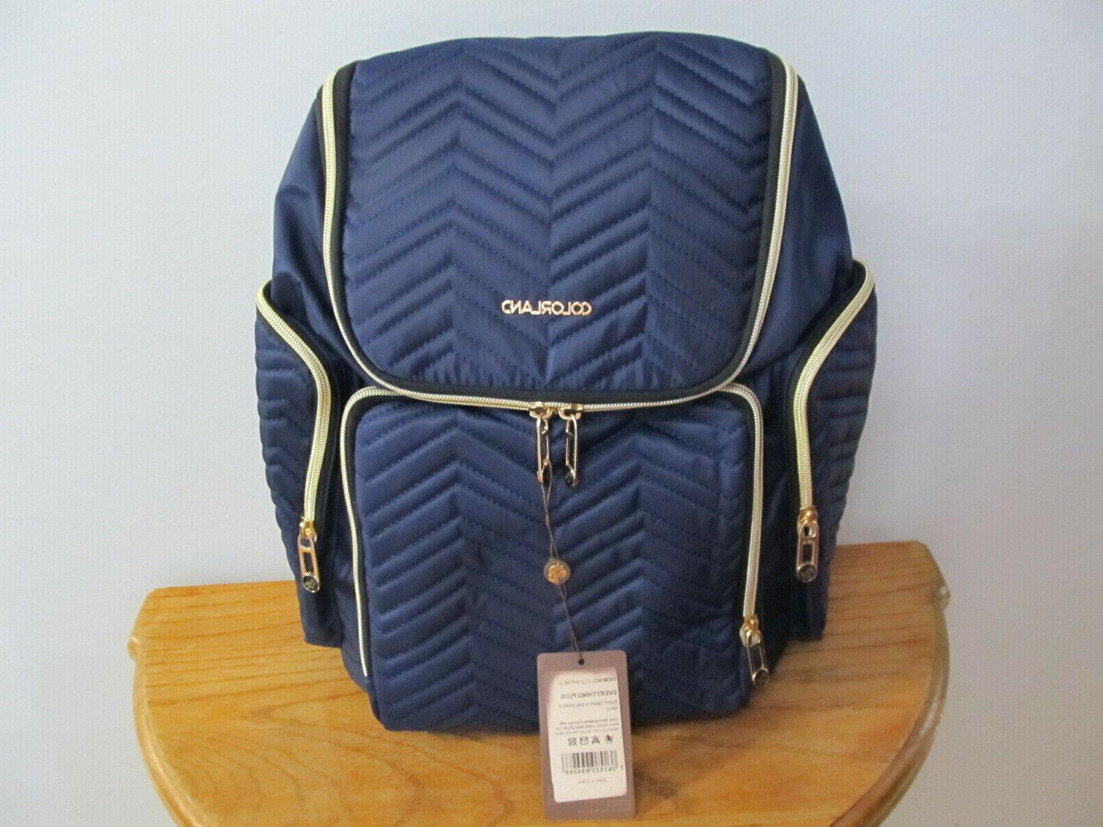 georgia baby diaper backpack lightweight large navy