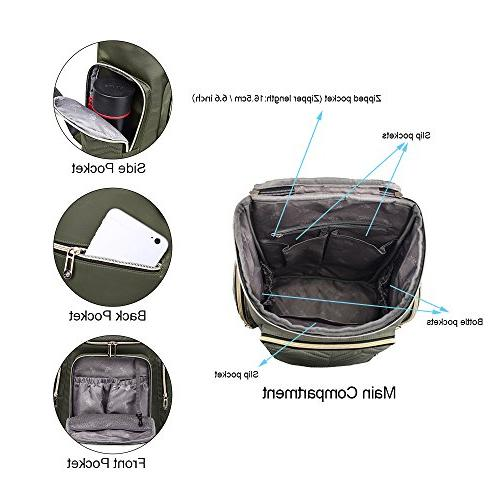 Colorland Backpack Lightweight Bag with Changing Mat and Insulated Pockets,