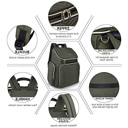 Backpack Lightweight Large Bag Changing Mat and Insulated