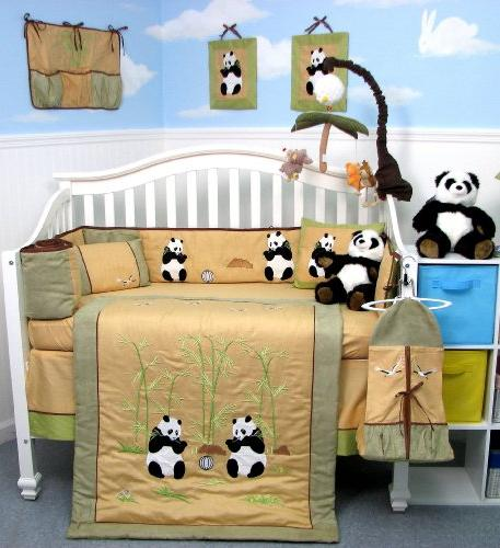 Giant Panda Bear Baby Crib