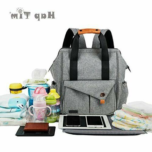 HapTim Baby Diaper Bag Backpack W/ Stroller Straps- Multi-fu