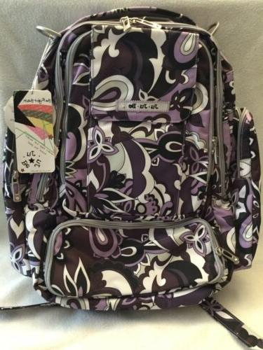Ju Ju Be Diaper Bag Backpack Purple Paisley