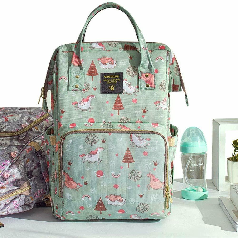 large baby diaper backpack w usb cable
