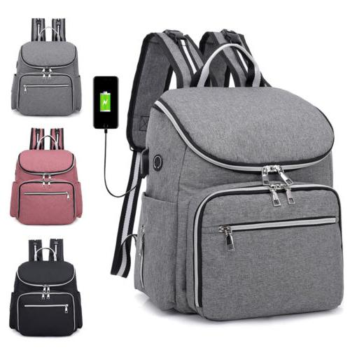large mummy diaper bag usb earphone port