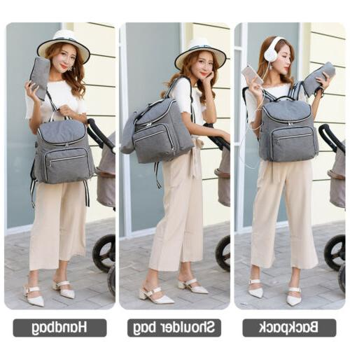 Large Maternity Bag USB Earphone Travel US