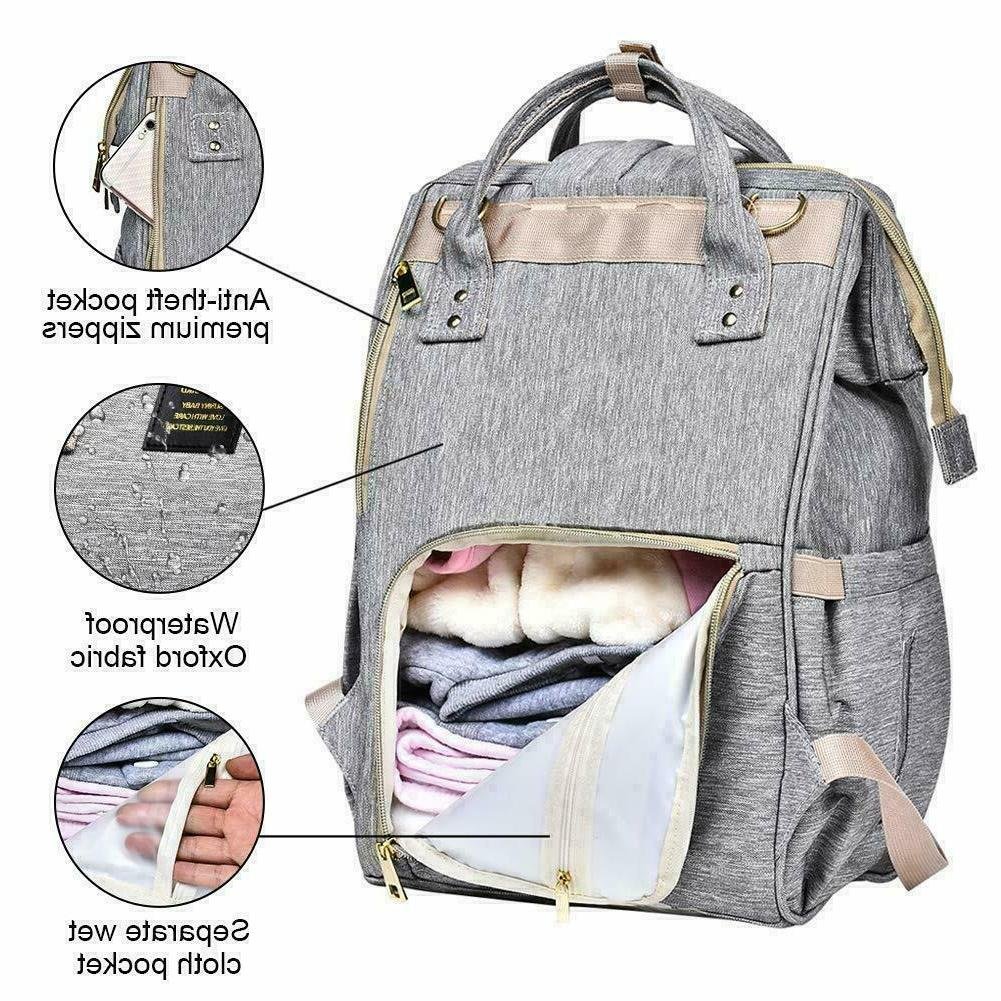 large nappy bag waterproof maternity travel backpack