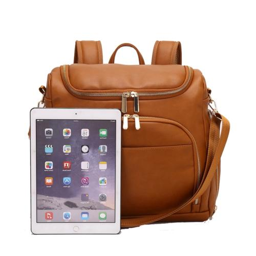 Leather PU Backpack Nappy Insulation Bag