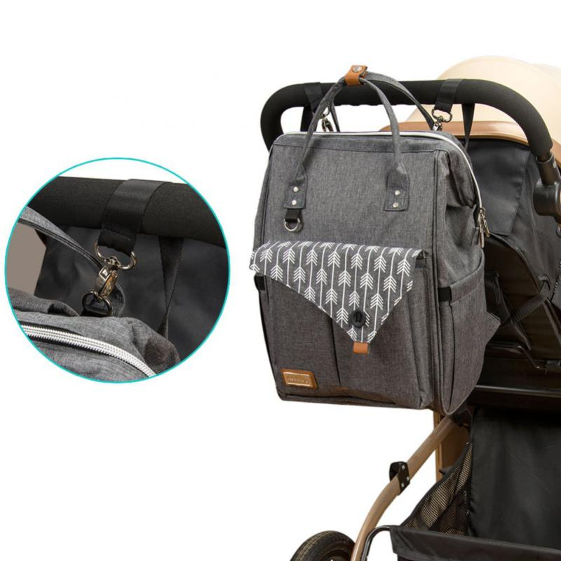 Lekebaby Backpack for Mom in Grey with