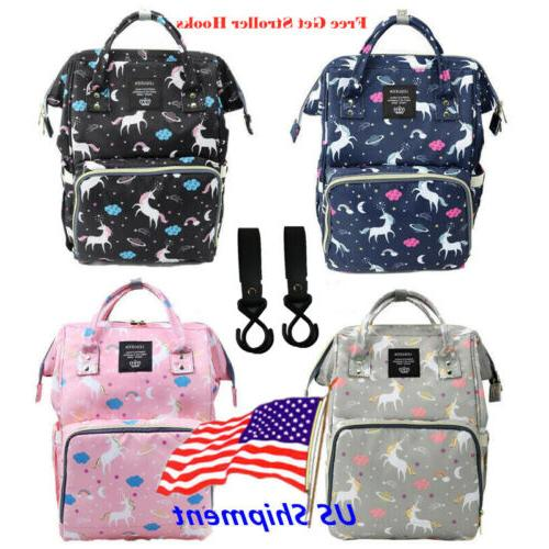 lequeen mommy unicorn diaper bag backpack maternity