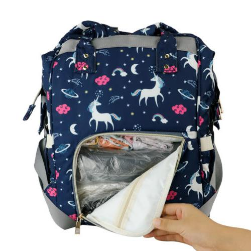 Diaper Bag Backpack Capacity Free Stroller Hook