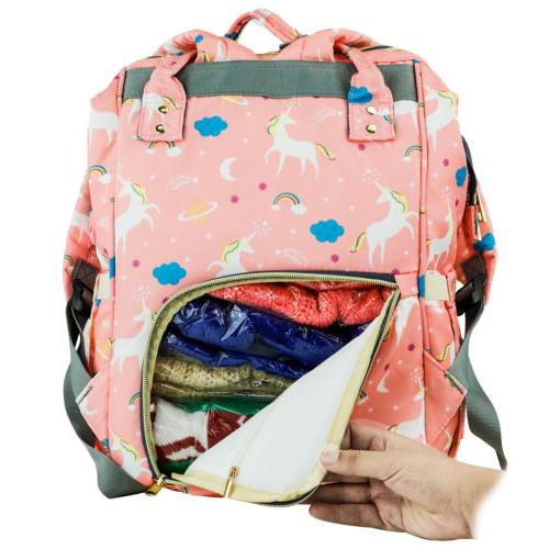 Diaper Capacity Unicorn Travel Bookbag for