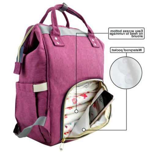 LEQUEEN Diaper Large Baby Backpack