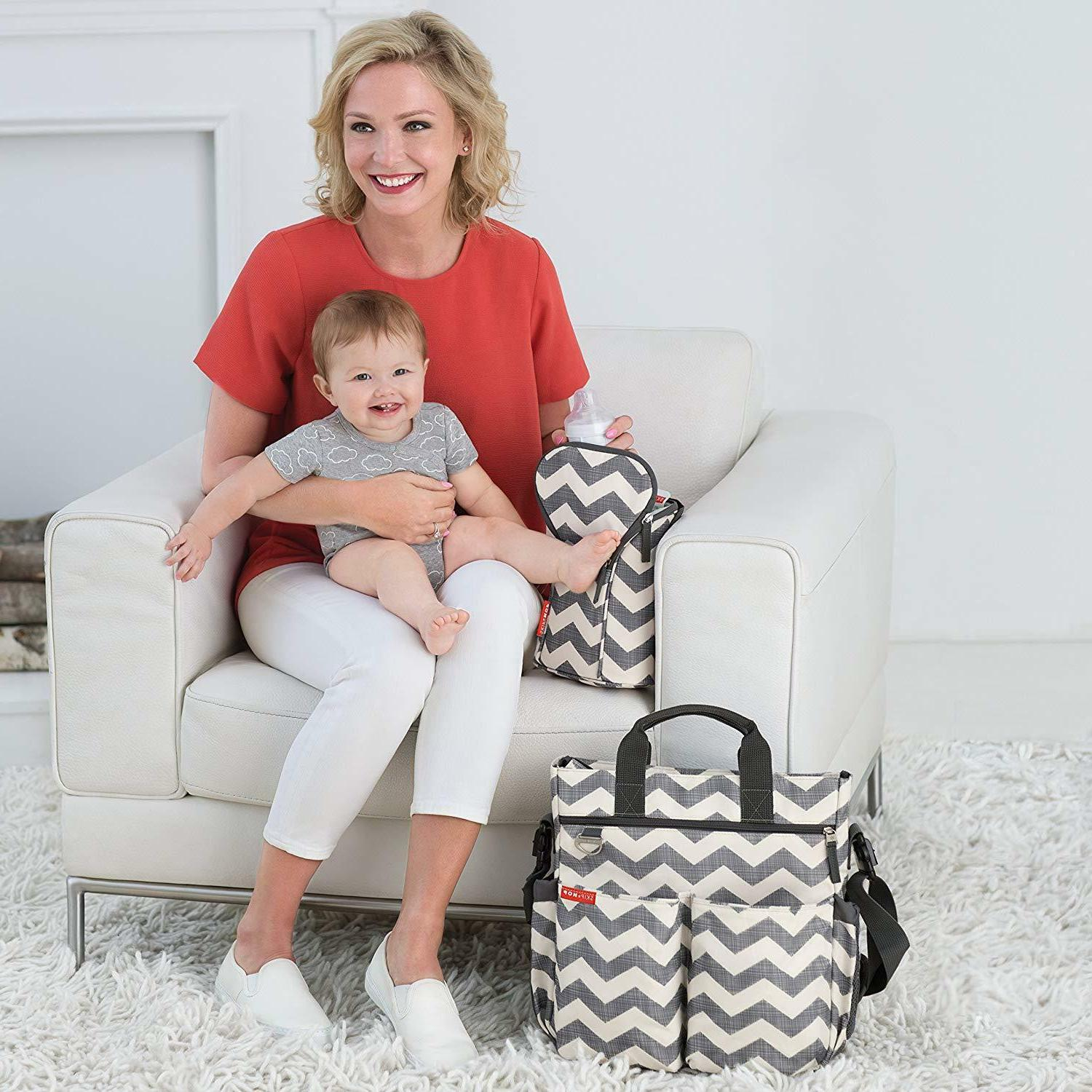 Skip Messenger Bag With Changing Pad,Duo BRAND