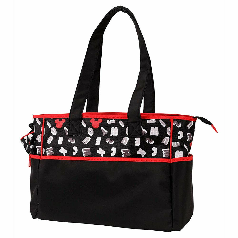 Disney Mickey Mouse 5pcs Large & Baby Diaper Bag, Bottle Pacifier Tote B