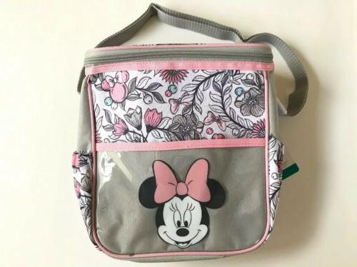 Disney Mickey Mouse Giggle Triple Pocket Diaper Bag Tote Grey Blue