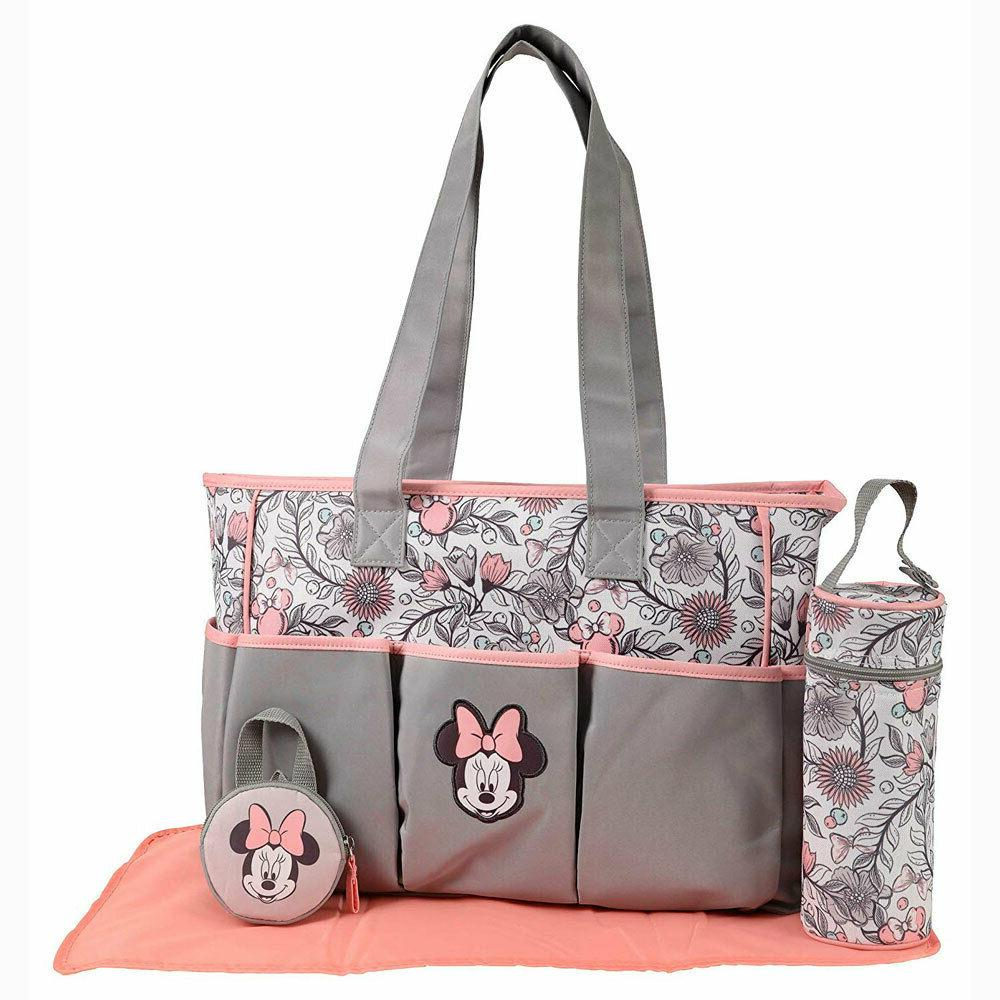 Disney Mouse 5pcs Large & Baby Diaper Pacifier Tote G