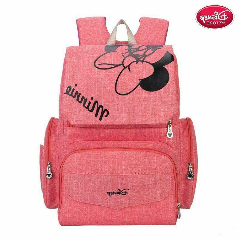 minnie mouse diaper bag maternity nappy backpack