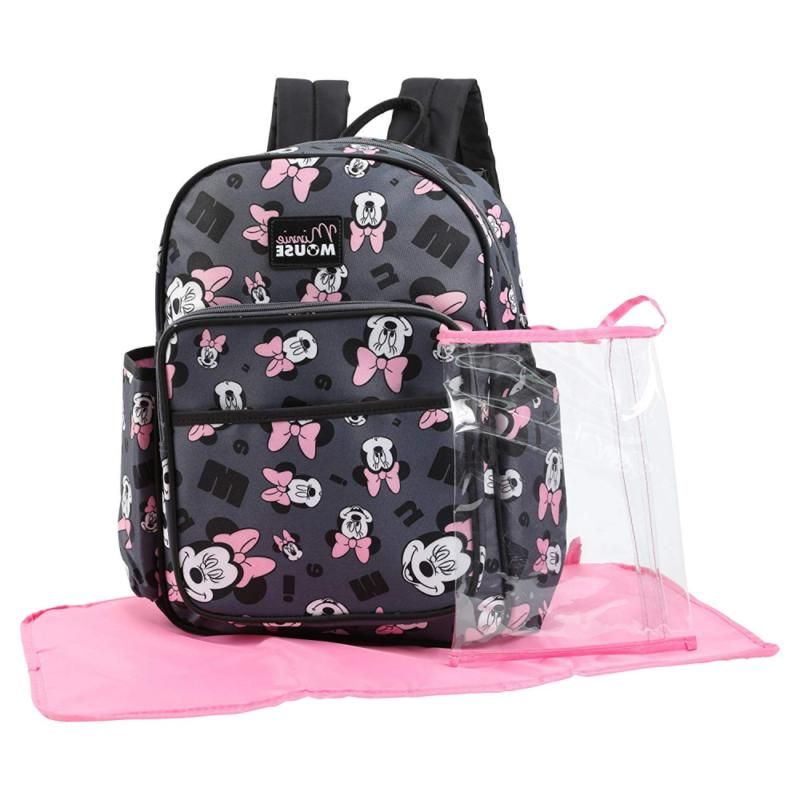minnie mouse toss head print backpack diaper