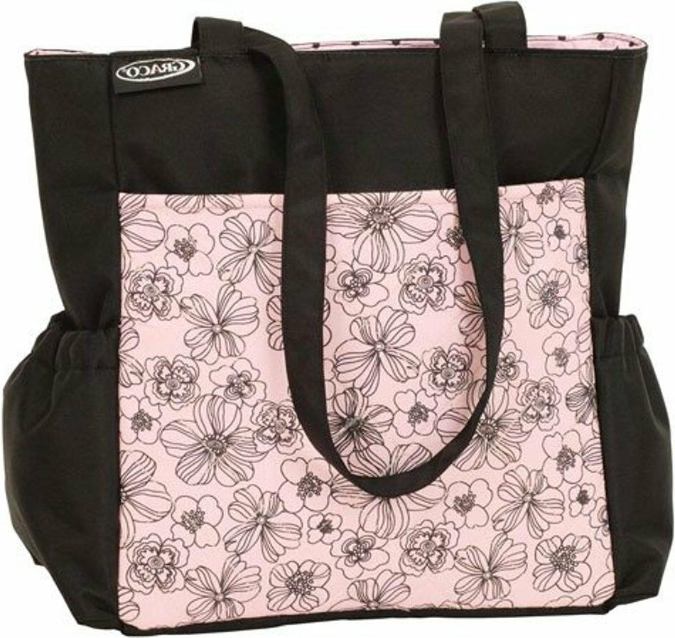 Modern Diaper Bag Black/pink