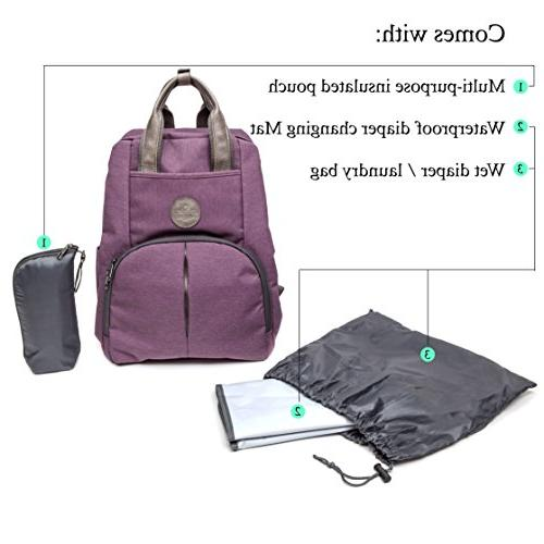 Multi-function Backpack W/Stroller connectors-Insulated Pad Stylish with