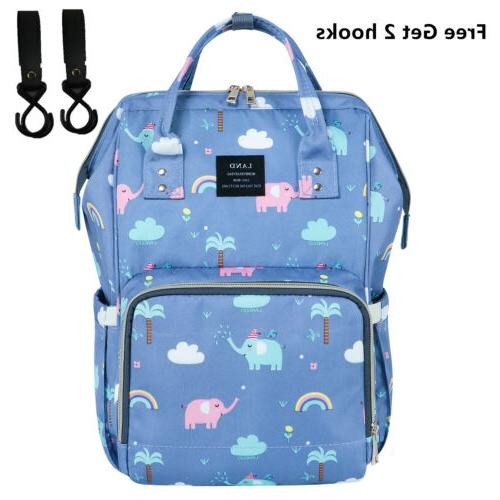 LAND Mommy Baby Diaper Bag School Backpack Nappy