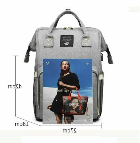 LEQUEEN Diaper Bag Mummy Backpack With USB Charging Port