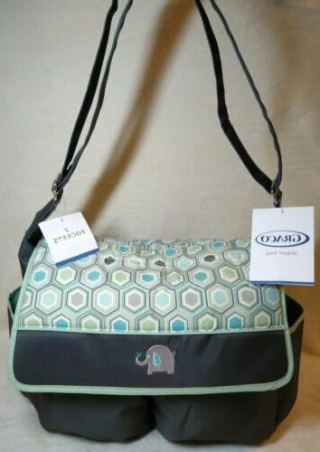 new diaper bag with changing pad elephant