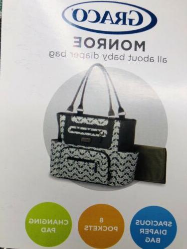 New Bag Spacious Interior 8 Pockets Changing Pad NWT