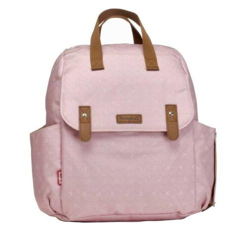 new storksak robyn pink origami convertible backpack