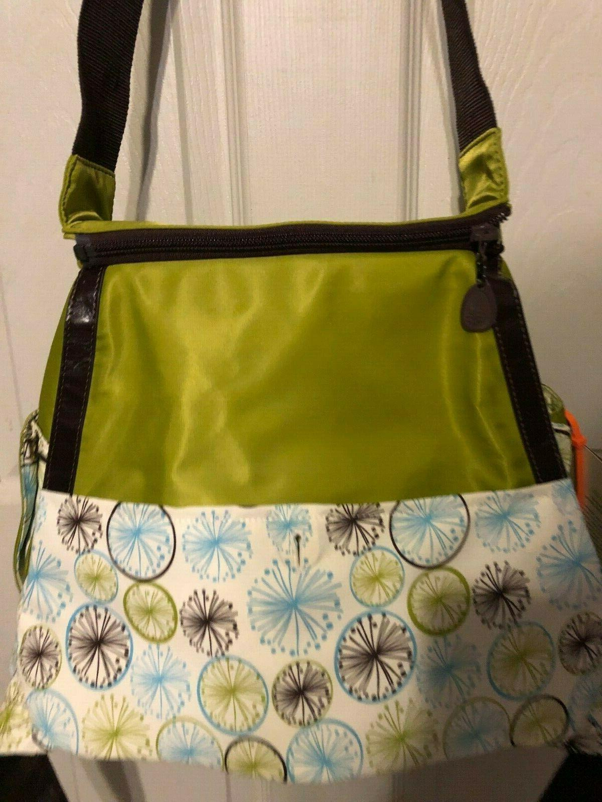NEW KEMBY DIAPER BABY CARRIER LIME GREEN BROWN