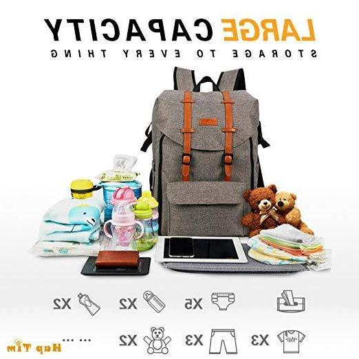 New Hap Tim Travel Baby Diaper Bag Backpack with FREE changi