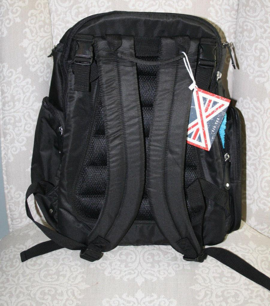 NWT Bag Nation Black Diaper Bag w/Changing Pad and