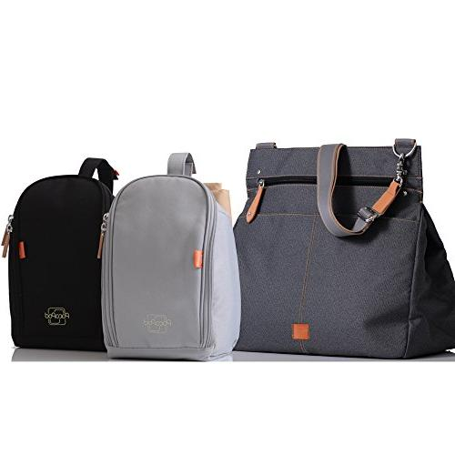 PacaPod Charcoal Designer - Grey Messenger 3 in System With Convertible Straps