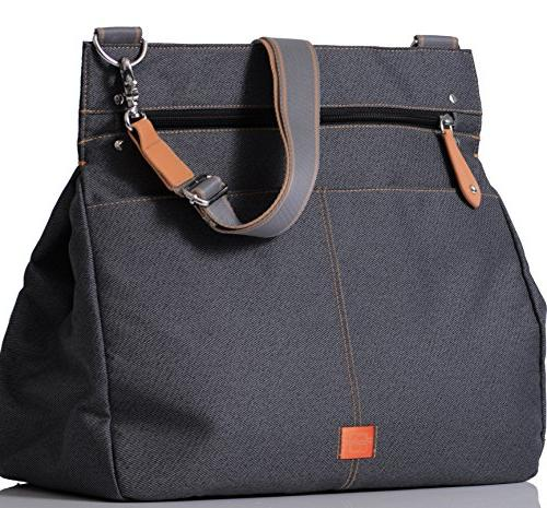 pacapod oban black charcoal designer baby diaper bag luxury