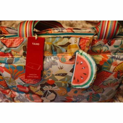 pattern diaper bag with changing pad