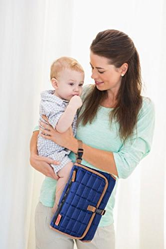 MAMAN Portable Changing Station - Diaper Changing Organizer for Baby Girls