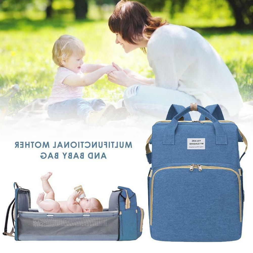 Portable Diaper Bag Baby Bed Mommy Bags