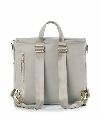 Fawn Leather Diaper Bag Backpack