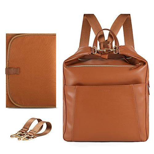 mommore Leather Bag Baby Bags Changing Insulated