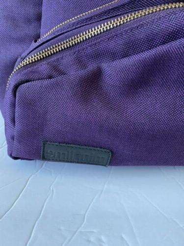 Purple Backpack - Convertible Diaper - Lime