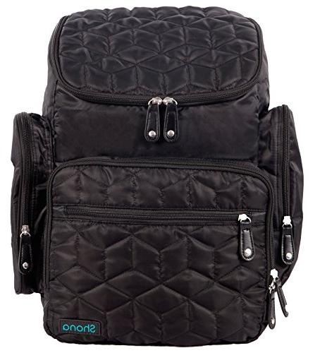 quilted diaper bag backpack set