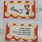 Red Personalized Disney Minnie Mouse  luggage tag  backpack