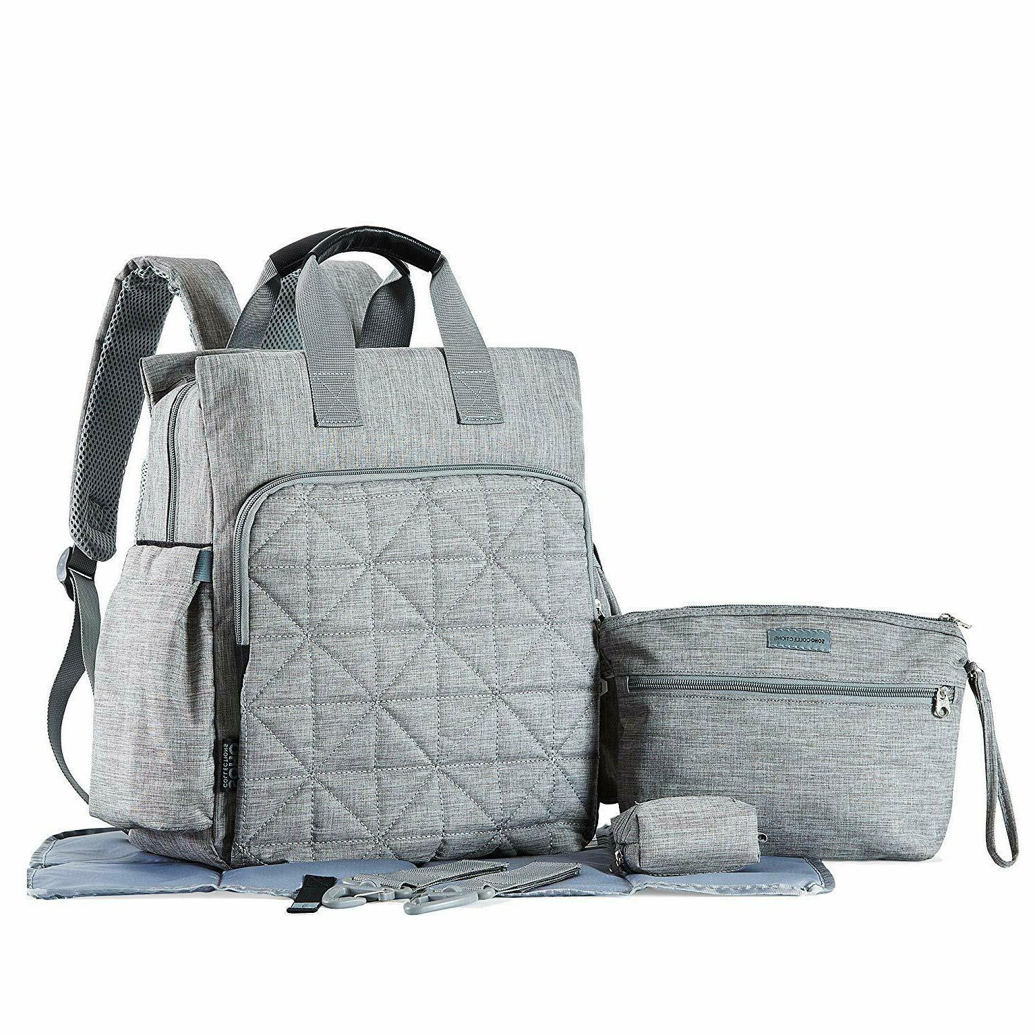 soho kenneth diaper backpack 6 piece bag