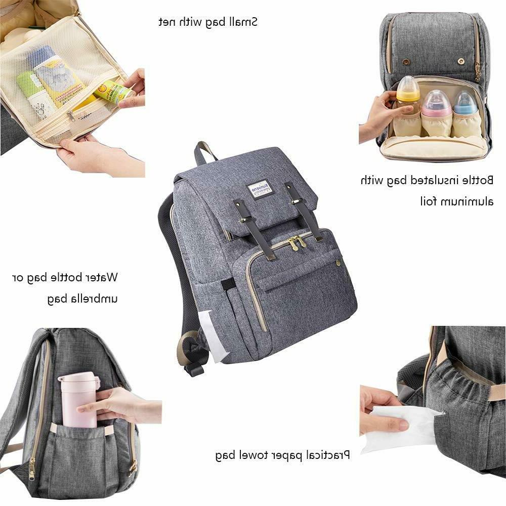 SUNVENO Mommy Diaper Backpack