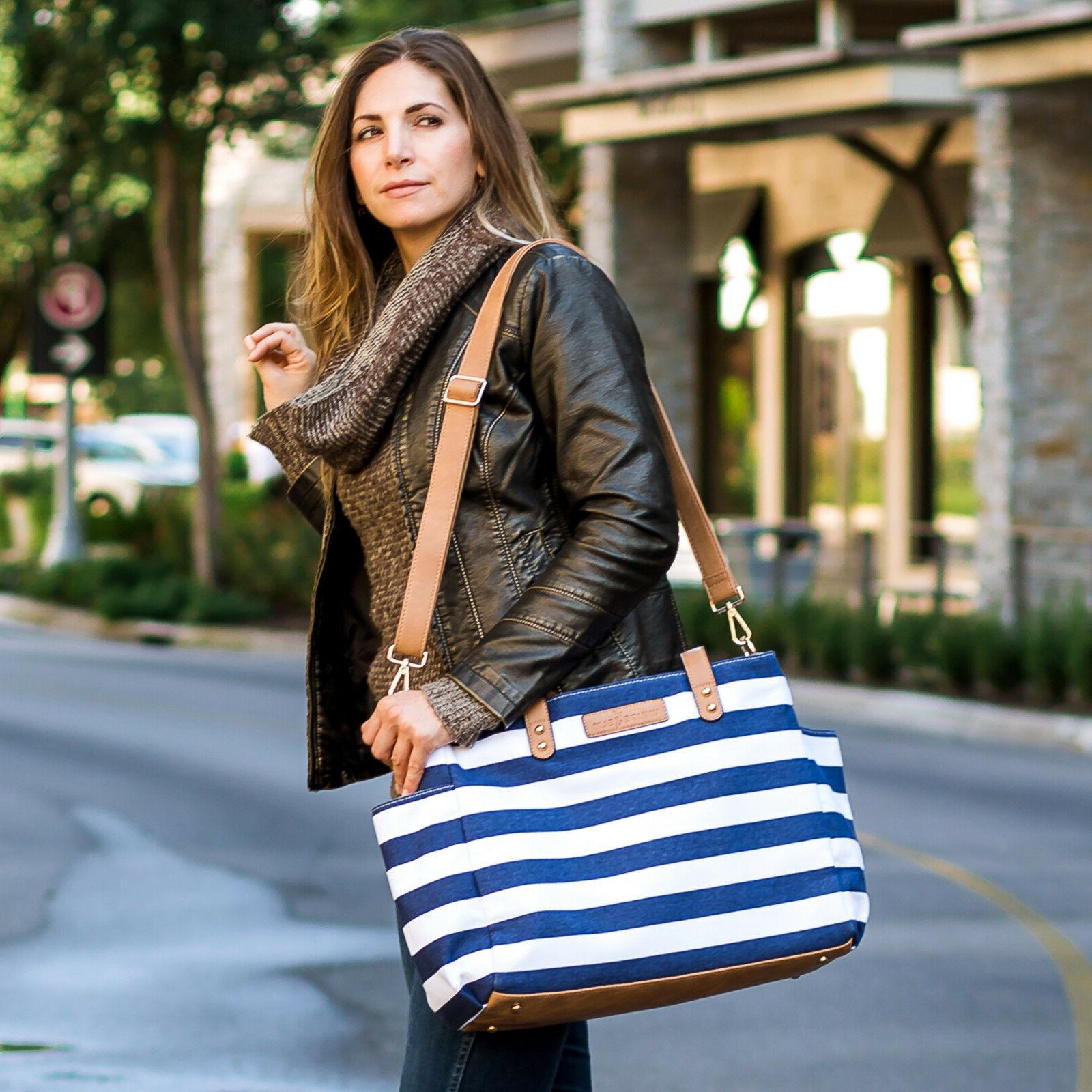 The Aquila by White Navy Diaper Bag