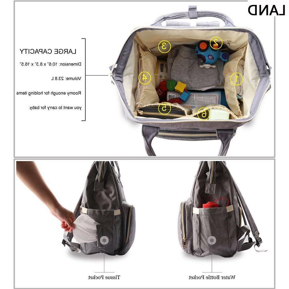 LAND Diaper Bags Baby Nappy Changing