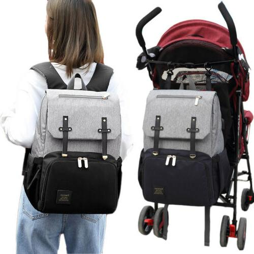 USB Waterproof Backpack Maternity Nappy Multifunction