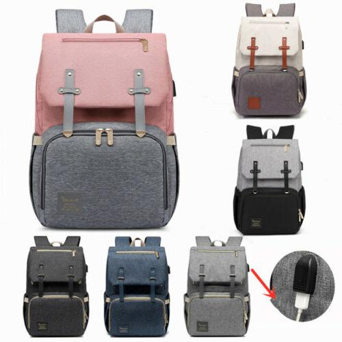 usb waterproof diaper backpack maternity nappy mom