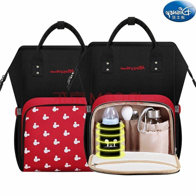 Disney Diaper Large Baby Bag Bottle Travel Backpack Mummy